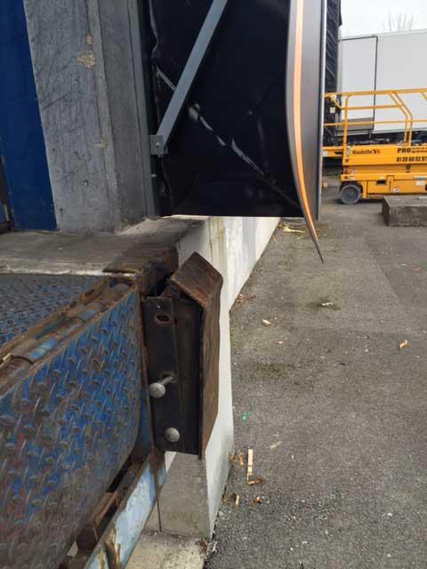 Butoir de quai usagé