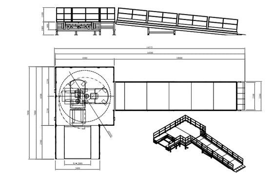 Plan d'une rampe extérieure
