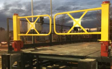 Pose d'une Rampe Exterieure avec niveleur de quai et barriéres asservies