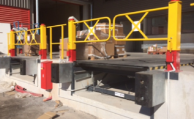 Pose de niveleurs et barrières de quais